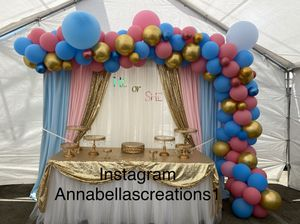 Gender reveal decoration, baby shower decorations, party decor , balloons garland, for Sale in Compton, CA