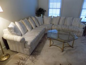 White-Cream 3 Pc.Sectional Sofa Excellent Used Cond. for Sale in MONTGOMRY VLG, MD
