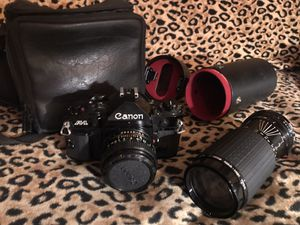 Canon A1 Professional Camera with auto high speed lense, filters and carrying cases for Sale in Culver City, CA
