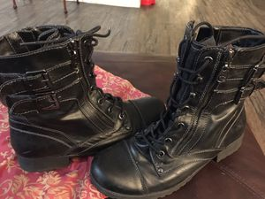 G by Guess black leather. combat boots size9.5 for Sale in Las Vegas, NV