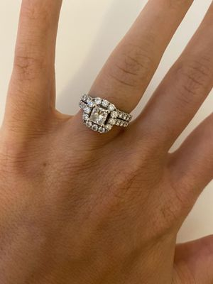 Engagement Ring and Wedding Band - Genuine Diamonds for Sale in Alexandria, VA