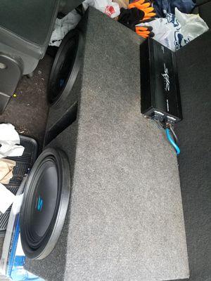 2 12 inch Alpine Type S with 1500 W Skar Amp for Sale in Charlottesville, VA