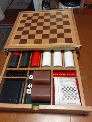 New Vintage Marlboro collection backgammon Checkers poker cards dice and chips for Sale in San Diego, CA