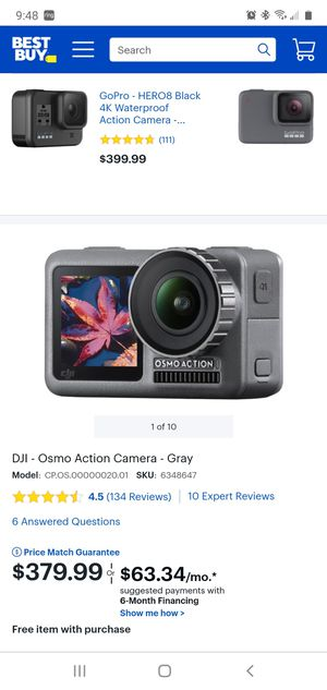 Dji osmo action camera grey for Sale in Los Angeles, CA