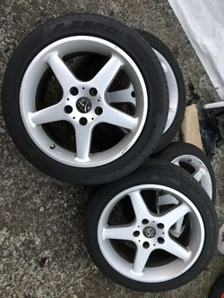 BMW E30 M3 rims and tires 5 x 120 mm for Sale in Lynnwood,  WA