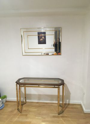 Console Table with Mirror for Sale in Gaithersburg, MD