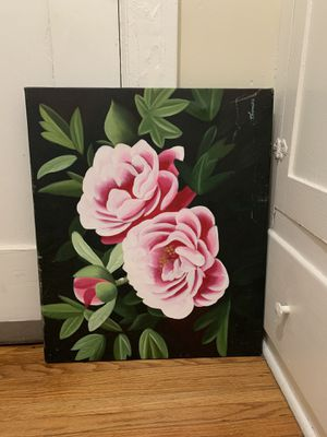 Pink roses painting for Sale in Glendale, CA