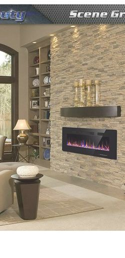 "Xbeauty 42"" Electric Fireplace in-Wall Recessed and Wall Mounted 1500W Fireplace Heater and Linear Fireplace with Timer/Multicolor Flames/Touch Screen for Sale in Brooklyn,  NY"
