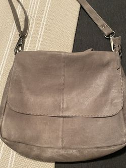 Gray Leather Messenger Bag for Sale in Carrollton,  TX