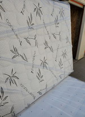 bamboo full pillowtop mattress with boxspring for Sale in Gardena, CA