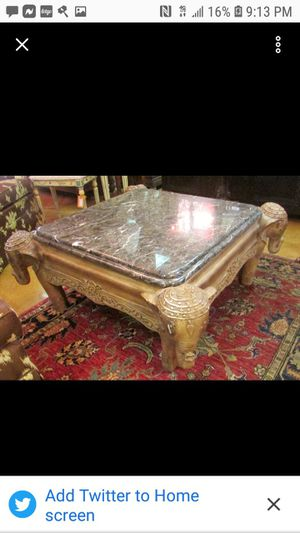 Marble top elephant head coffee table for Sale in Wichita, KS