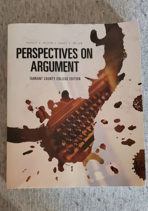 Perspectives on Arguement. Tarrant County College Edition for Sale in Arlington, TX