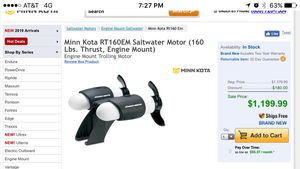 Minn Kota RT160 motor mount trolling motor for Sale in Carrollton, TX