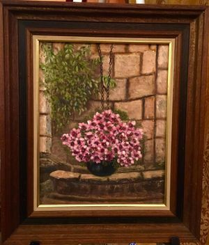 Beautiful vintage wall art oil on canvas by Myra Green; H19xW16 inch for Sale in Sun Lakes, AZ