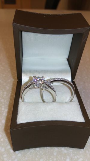 New with tag Solid 925 Sterling Silver ENGAGEMENT WEDDING Ring Set size 7 or 8 $150 each set OR BEST OFFER for Sale in Phoenix, AZ
