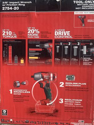 Milwaukee Fuel 3/8 Impact Wrench (TOOL ONLY) for Sale in San Jose, CA