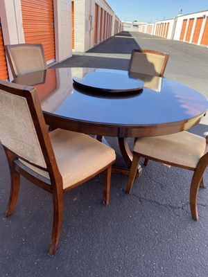 "Dining table 4 chairs 60"" wood for Sale in Phoenix, AZ"
