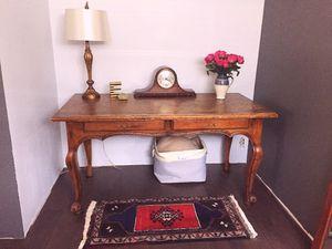 Antique solid oak claw foot desk. for Sale in Seattle, WA