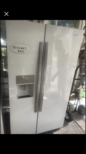 White whirlpool refrigerator 25cu for Sale in Orange Park, FL