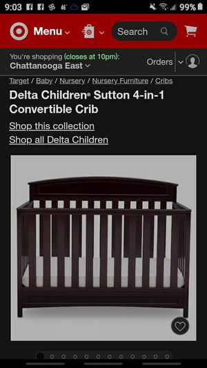 Delta 4 in 1 Crib for Sale in Ooltewah, TN