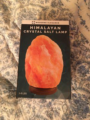 Himalayan crystal salt lamp for Sale in Anacortes, WA