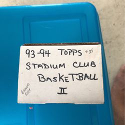 1993/94 tops stadium club basketball set 2 for Sale in Cape Coral,  FL