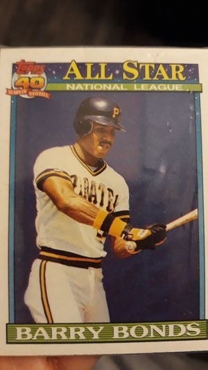 """1991 Topps 40th Barry Bonds """"All Star"""" Baseball Card 401 for Sale in Antioch, CA"""