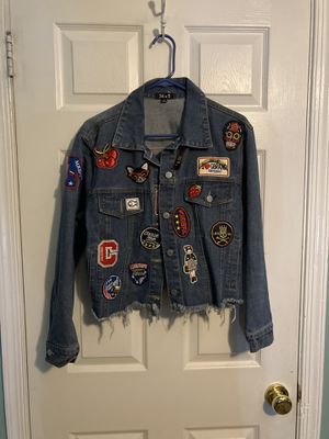 Jean Jacket With Cute Patchwork for Sale in Evesham Township, NJ