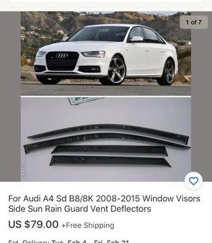 2010 Audi A4 2.0t sedan window visors rain guard parts jdm for Sale in Fontana, CA