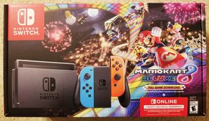 Sealed Nintendo Switch + Super MarioKart DeLuxe & Bonus for Sale in Jessup, MD