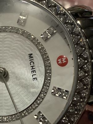 Michele Sidney Classic Diamond Silver Stainless Watch MWW30B000001 New with tags serious buyers for Sale in Elgin, IL