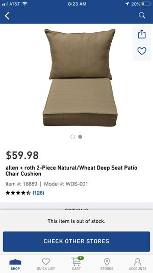 Deep seat patio cushions for Sale in US