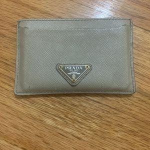 Men's Grey Prada Card Holder for Sale in Airmont, NY