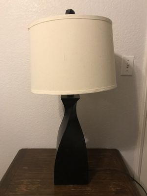 Dark brown lamp with white shade for Sale in San Diego, CA