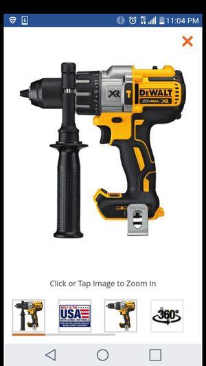 "Dewalt 20v xr brushless 3 speeds 1/2"" hammer drill ( tool only for Sale in San Jose, CA"