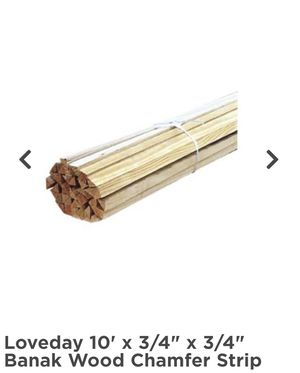 3/4 x 3/4 x 10' wood chamfer strip (2 rolls) for Sale in Miami, FL