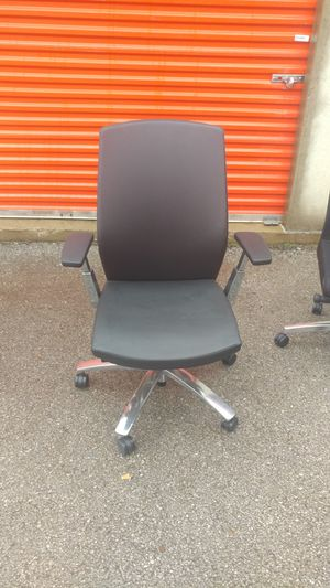 High back leather chair Chrome base for Sale in Columbus, OH