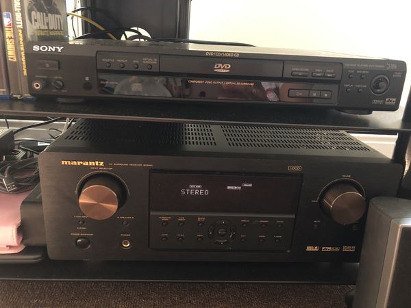 Marantz sr3001,Sony DVD and 6 JBL speakers