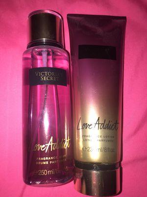 Victoria Secret Women's Perfume Body Mist Lotion Love Addict for Sale in San Antonio, TX