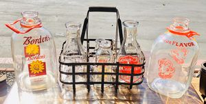 Antique milk bottles and crate for Sale in Poway, CA