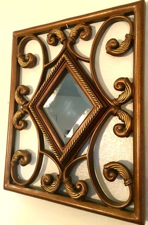 Top quality, carved wood framed decorative mirror H21.5xW18 inch for Sale in Chandler, AZ