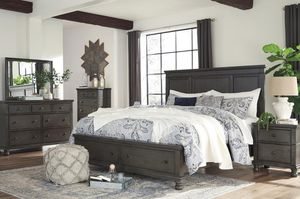 SPECIAL] Devensted Dark Grayyyy Storage Platform Bedroom Set for Sale in Fairfax, VA