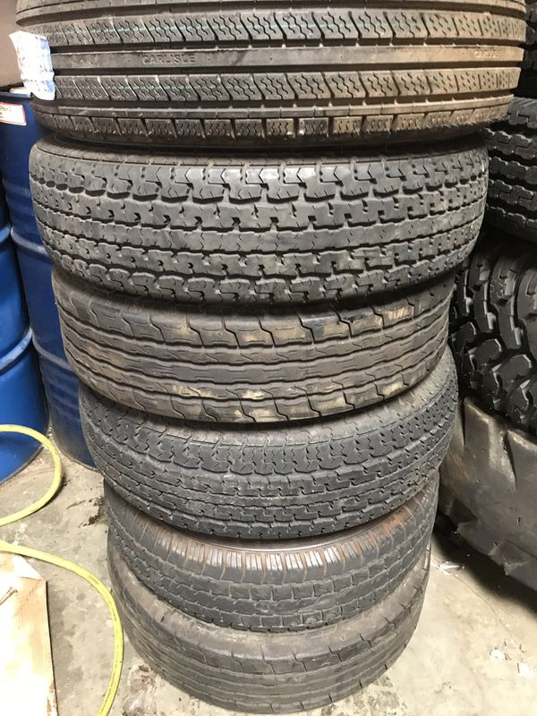 1x USED ST trailer tire ST 205x75-14 each $35 Install included I have 8 tires