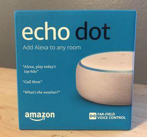 New w/ box Amazon Echo Dot 3rd Gen for Sale in Houston, TX