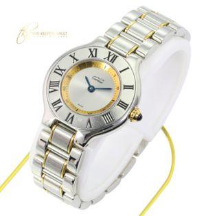 Cartier Ladies Must de Cartier 1340 Quartz Two-tone 28MM Watch for Sale in Los Angeles, CA