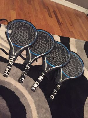 HEAD SPEED 25 IN. TENNIS RACKETS (4) for Sale in Saint Charles, MO
