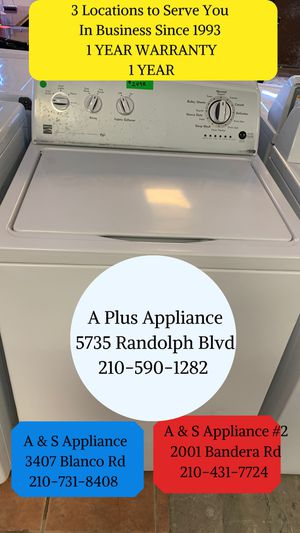 Kenmore Washer 1 Year Warranty for Sale in San Antonio, TX