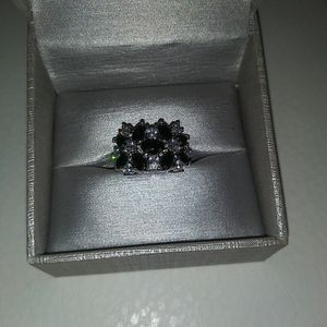 Sterling Silver Black Onyx And Sapphire Ring for Sale in Russellville, KY