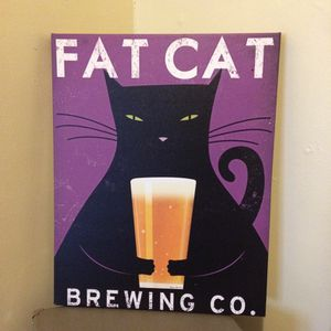 Fat Cat Brewing Co Canvas Painting for Sale in Detroit, MI