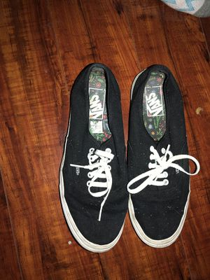 Vans black canvas shoes for Sale in Ardmore, AL